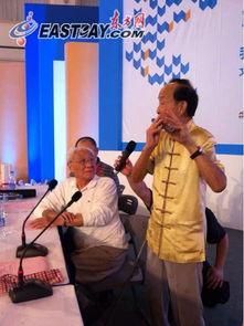 陆春龄展示竹笛吹奏-海上谈艺录 第三辑发布 老艺术家同台献艺