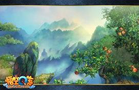 """琛ㄦq 澶村q iav.-《悟空Q传》的新手村――""""花果山""""的美是毋庸置疑的!每一个看到..."""