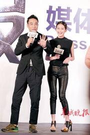 0月上映的警匪电影《制服》(原名《恶魔右手》)昨日在北京举行媒...