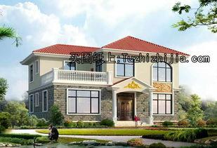 10X13米乡村二层别墅设计,非常实用,20万建成
