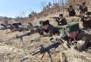 ...机枪一字排开 朝鲜人民军忙备战