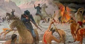 美国是怎样灭绝印第安人的 剥一块头皮奖100美元