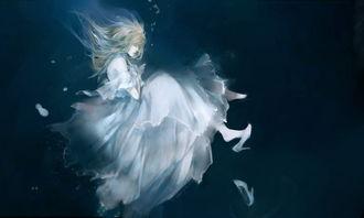 动漫图片,在水中的动漫图片