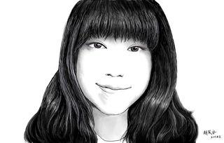 素描画-女友肖像