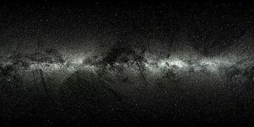 银河百年-图五:银河系中的两百万颗恒星的位置,上图基于盖亚天文卫星的首批...