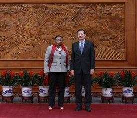外交部副部长张明会见几内亚外长卡马拉