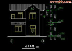 ...1X9.9首层70平米2层农村自建房设计图下载 别墅图纸
