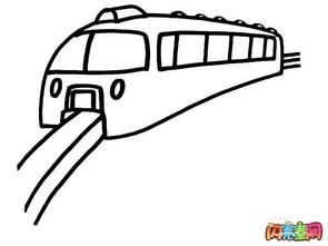 幼儿火车简笔画图片