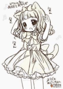 公主裙子简笔画-弹弹堂口袋版