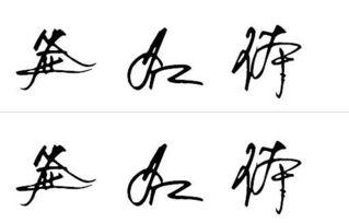 漂亮的手写签名字体