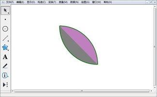 采用相同的方法构造花瓣的另一半-几何画板怎么画花瓣图形