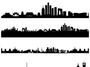 北京上海城市矢量剪影