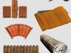 ...竹简PNG透明背景免扣素材图片下载png素材 其他