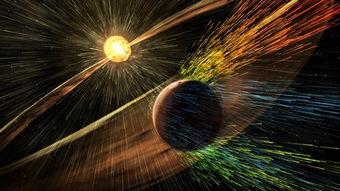 ...借助火星探测器MAVEN最近的数据,科学家发现太阳风以每秒100克...