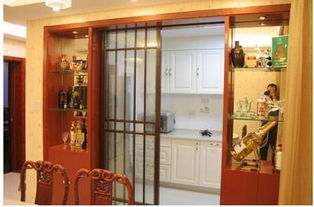 中式厨房隔断酒柜装修效果图
