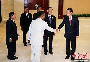 9月17日,中国国务院副总理张高丽在广西南宁会见前来出席中国—东...