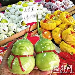 福州市场售 人参果 价格不菲学名叫做香艳梨