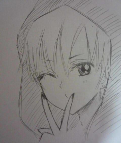 漫画图片简单铅笔画