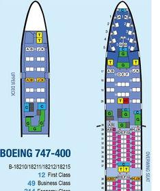 ...400型飞机的座位分布是怎样的