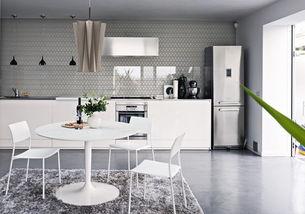 白色简约家庭餐桌设计图-您正在访问第2页 装修效果图案例 2018年装...