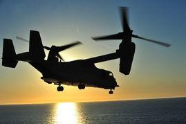 军事视频常用的纯音乐-美军MV-22鱼鹰在航母上抓紧训练为部署做准备.为下一步的部署作准...