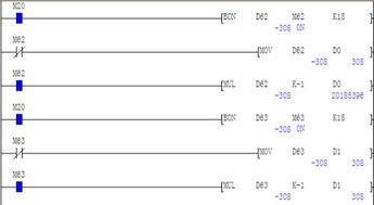 三菱PLC数据寄存器D里面的数据用MUL指令时 第一个错误 第二个正...