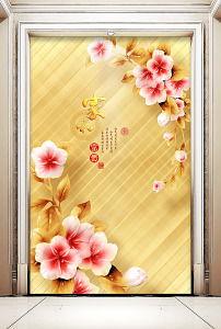 金色玄关壁画我图网-金色玄关壁画