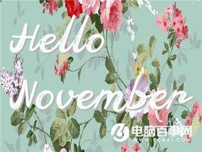 十一月你好的说说图片大全简单一句话 十一月说说图片大全