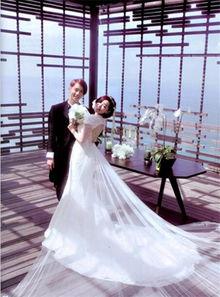 明星短发婚纱照 帅气短发新娘