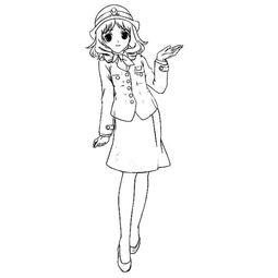 动漫女生人物简笔画,卡通人物简笔画大全,儿童画动漫女孩人物画...