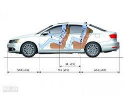 ...车型尺寸单位:inch英寸 1英寸=2.54cm)-大众 速腾 2011款