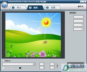 flash转视频软件 ThunderSoft Flash to Video Converter v1.3.1中文绿色...