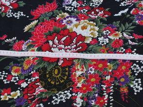 棉麻服装面料 印花批发手工桌布抱枕布 国画大牡丹桌布背景图布料