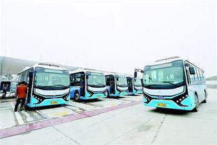 ...0台比亚迪电动公交车在黄陂区投用(如图),数量规模在我省区县...
