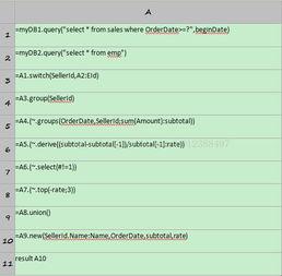 上述代码用来查询表sales中某日期之后的订单,其中beginDate为报表...