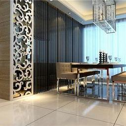 ...2O四居室现代简约风格餐厅背景墙效果图现代简约风格餐椅图片-现...
