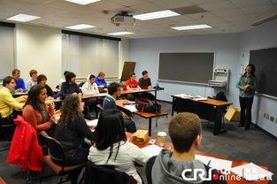 2月1日,美国学生在美国首都华盛顿的美利坚大学教室学习中文课.  ...