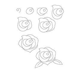 玫瑰花怎么画 好看的玫瑰花简笔画步骤