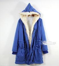 秋冬加厚长款棉衣外套 大毛领翻领带帽羊羔绒温暖棉服大红