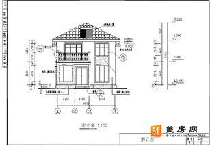 清新玲珑农村住宅房子设计图 含结构 给排水 电气 8x11