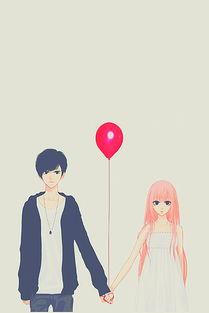 温馨爱情唯美动漫插画美图 爱有时牢不可破,有时却又一碰就碎