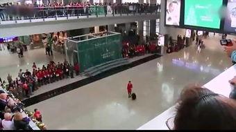 国泰300黑丝空姐香港机场快闪热舞 民众欢喜狂拍