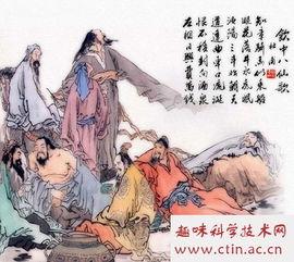 仙或醉八仙.《新唐书·李白传》载,李白、贺知章