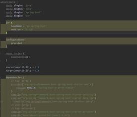 mcat处改为provided.provided和compile的区别在与前者是在调试使用...
