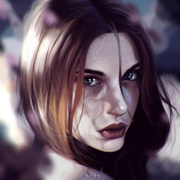 彩色绘画清纯女性图片展示A M G V 游戏素材 人人素材社区