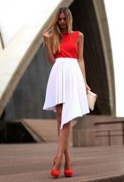 时尚街拍 潮人高街示范 不规则裙摆打造大长腿