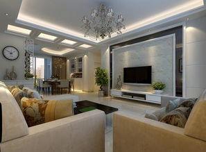 ...室现代简约风格客厅隔断装修效果图-现代简约风格隔断柜图片-现代...
