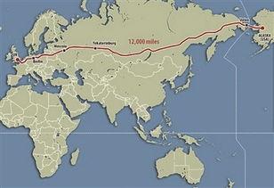 英国出发,通过英吉利海峡隧道,经过德国