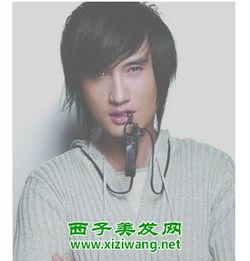 男生帅气短发斜刘海发型图片