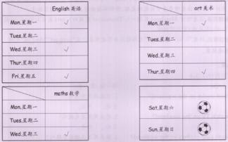 人教版五年级上册英语unit2教材B部分课文翻译